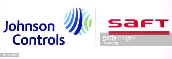 The company logos of Johnson Controls Inc and Saft Groupe SA