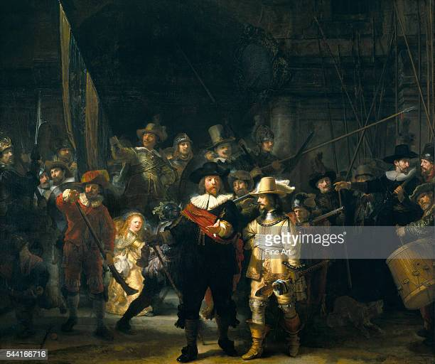The Company of Frans Banning Cocq and Willem van Ruytenburch also known as The Night Watch or Nightwatch 1642 Rijksmuseum Amsterdam The Netherlands