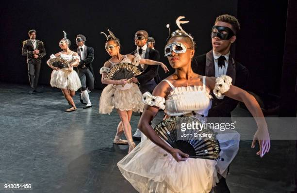 The Company perform on stage as The Viviana Durante Company celebrates the choreography of Kenneth MacMillan during a staging of 'Steps Back In Time'...