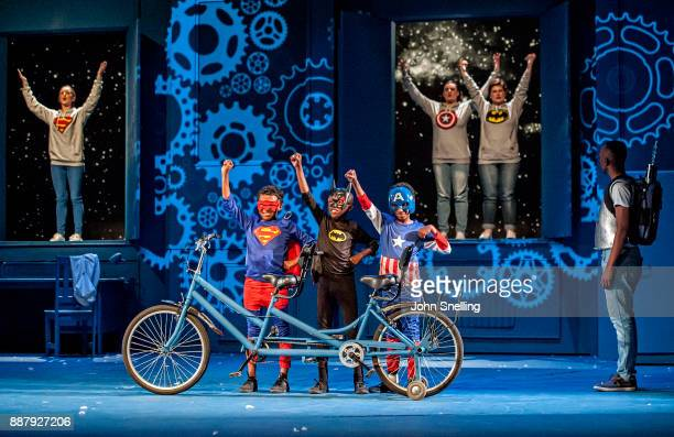 The Company performs on stage during a dress rehearsal for 'Magic Flute' by the Cape Town Opera Company at The Artscape on November 22 2017 in Cape...