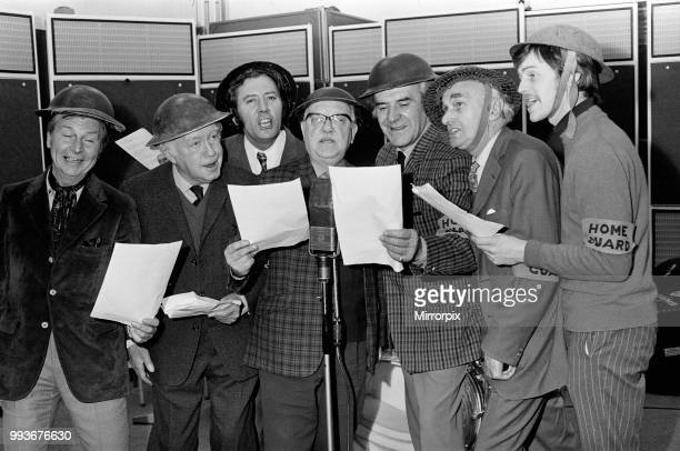 The complete Dad's Army team reported for duty today in the EMI Abbey Road Studios London to record 'The March' from Dad's Army Whistling and singing...