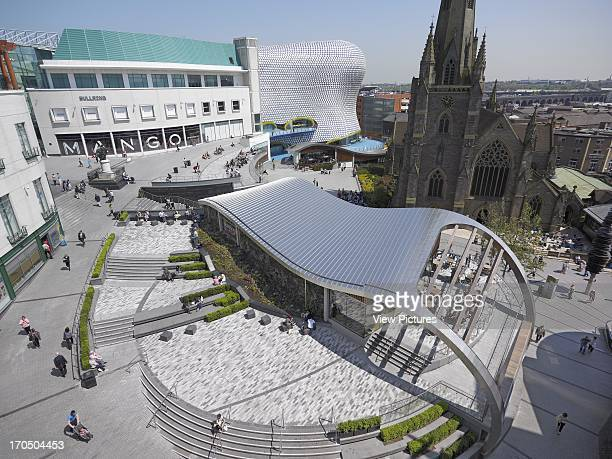 The complete development including Selfridges and St Martin's church Spiceal Street Bullring Shopping Mall Europe United Kingdom West Midlands...