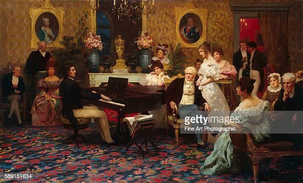 The Composer Chopin Playing in the Salon of Prince Radziville in Berlin in 1829 by Henryk Siemiradzki