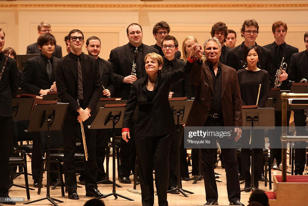 The composer John Corigliano and the conductor Marin Alsop with the Juilliard Orchestra at Mr. Corigliano's 75th birthday concert at Carnegie Hall on Saturday night, February 9, 2013.