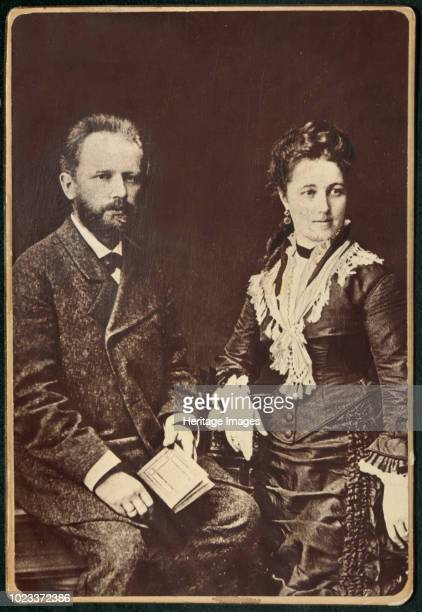 The composer Pyotr Ilyich Tchaikovsky with his wife Antonina Miliukova 1877 Found in the Collection of State P Tchaikovsky Memorial Museum Klin