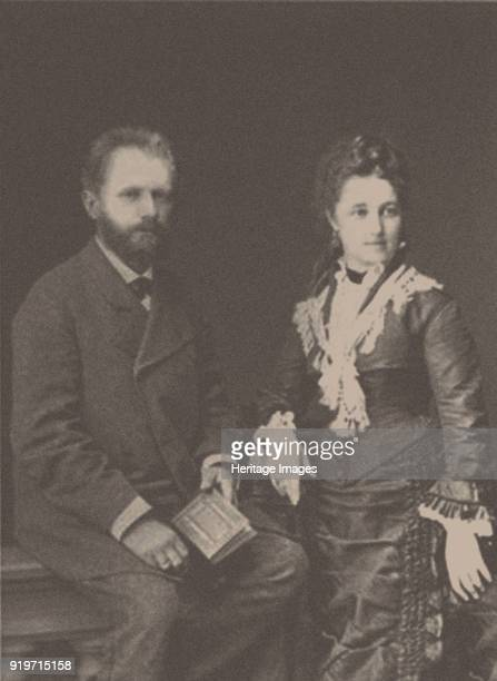 The composer Pyotr Ilyich Tchaikovsky with his wife Antonina Miliukova 1877 Found in the Collection of State P Tchaikovsky Memorial Museum Moscow