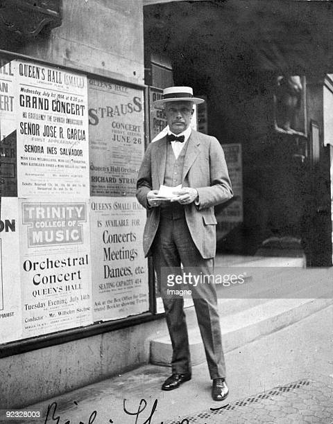 The composer Richard Strauss in London. Photograph. 1914