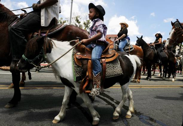 CA: Compton Cowboys Hold Peace Ride On Horseback As Protests Continue In Wake Of George Floyd Death