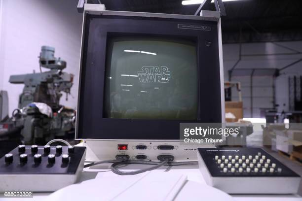 The computer used to create the Death Star blueprints for the original 'Star Wars' movie at the University of Illinois at Chicago's Electronic...