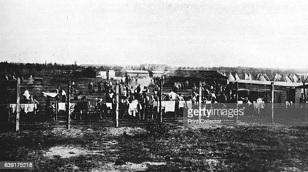 The concentration camp at Frith Hill Camberley' From The Manchester Guardian History of the War Vol II 191415 [John Heywood Ltd London 1915] Artist...