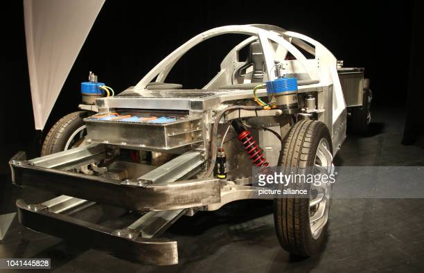 The concept car 'SpeedE' at the 3rd Kompetenztreffen Elektromobilitaet in Essen Germany 27November 2014 The car puts the inovation potential of...