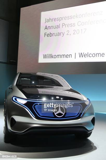 The 'Concept EQ' car is seen during the Daimler AG annual press conference on February 2 2017 in Stuttgart Germany