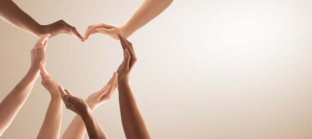 The concept of unity, cooperation, teamwork and charity. 1202093022