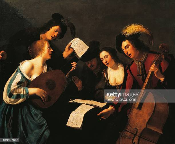 The concert artist from the French school 17th century Le Mans Musée De Tessé