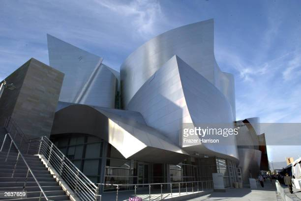 The Concert Hall Exterior at the Walt Disney Concert Hall opening gala, day one of three, October 23, 2003 in Los Angeles, California. Tonight,...