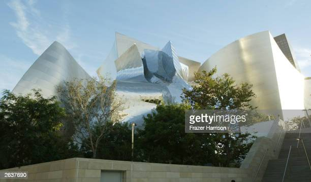 The Concert Hall Exterior at the Walt Disney Concert Hall opening gala day one of three October 23 2003 in Los Angeles California Tonight �Sonic LA�...