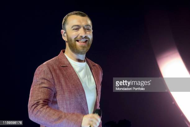The concert of Sam Smith in the Forum of Assago with the tour The Thrill of it All World Tour Milano 11 maggio 2018