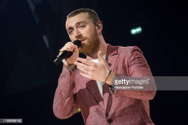 "The concert of Sam Smith in the Forum of Assago with the tour ""The Thrill of it All World Tour"" . Milano, 11 maggio 2018"