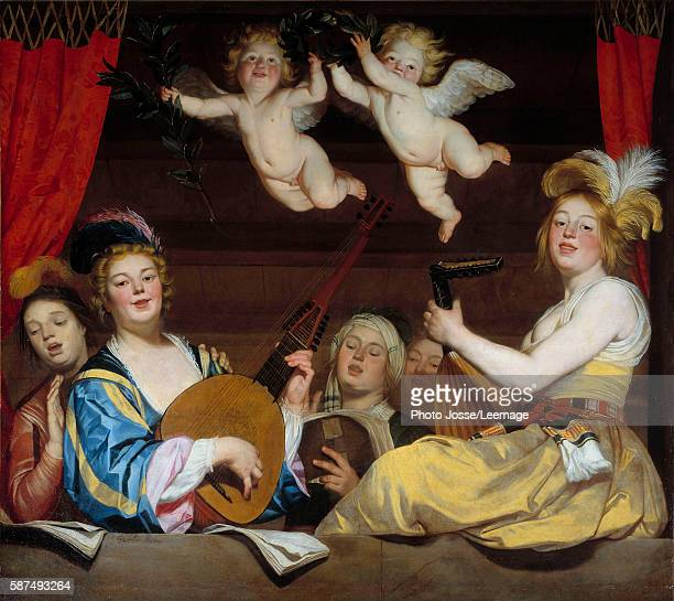 The Concert Painting by Gerrit van Honthorst 1624 168 x 178 m Louvre Museum Paris