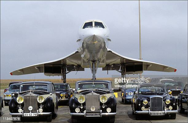 The Concorde And The Rolls-Royce On October 22nd In Aeroport De Roissy,France