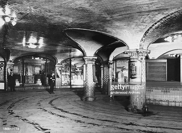 The concourse of the 'St Lazare' subway station Paris France 1933