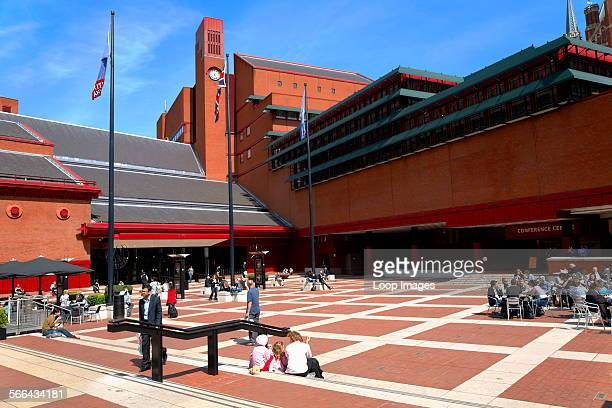 The concourse outside the British Library the world's largest library in terms of total number of items