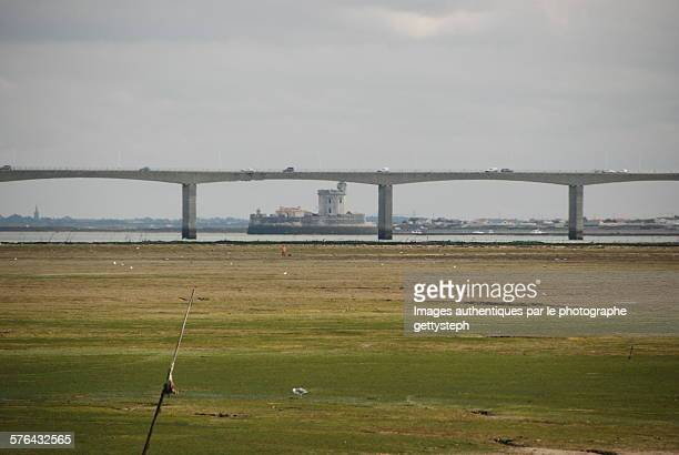 The concrete road bridge