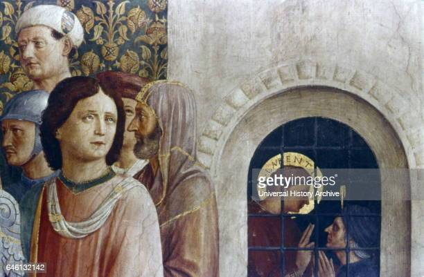 The Condemnation of St Lawrence by the Emperor Valerian East wall Cappella Niccolina Palazzi Pontifici Vatican Fresco by Fra Angelico Italian painter...