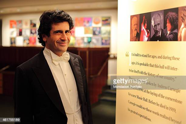The conductor Alberto Veronesi photographed in the Carnegie Hall where the New York Opera Orchestra has its seat Alberto Veronesi is Music Director...