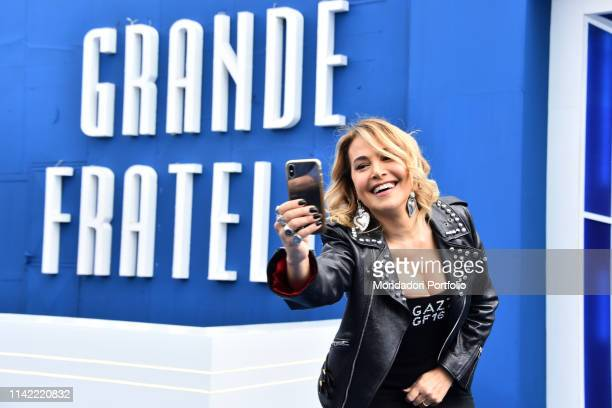 The conductor Barbara D'Urso attends Grande Fratello 16 photocall at the Cineccitta' studios Rome April 16th 2019