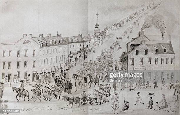The Confederate Army under Generals Early and Gordon in York Pa June 28 just before the Battle of Gettysburg Drawing by L Miller