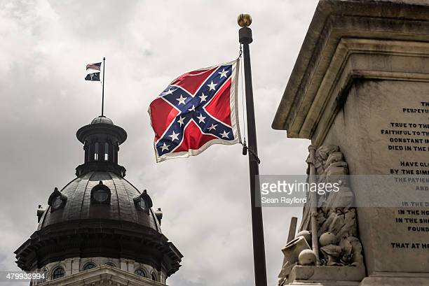 The Confederate battle flag flies at the South Carolina state house grounds July 8 2015 in Columbia South Carolina South Carolina lawmakers will...