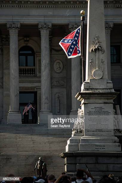 The Confederate battle flag flies from the South Carolina state house grounds July 10 2015 in Columbia South Carolina Since the early sixties the...