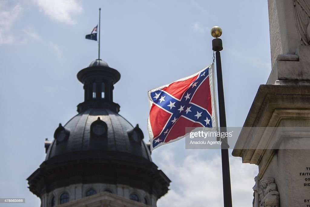 Confederate Flag Flying at South Carolina State House : News Photo