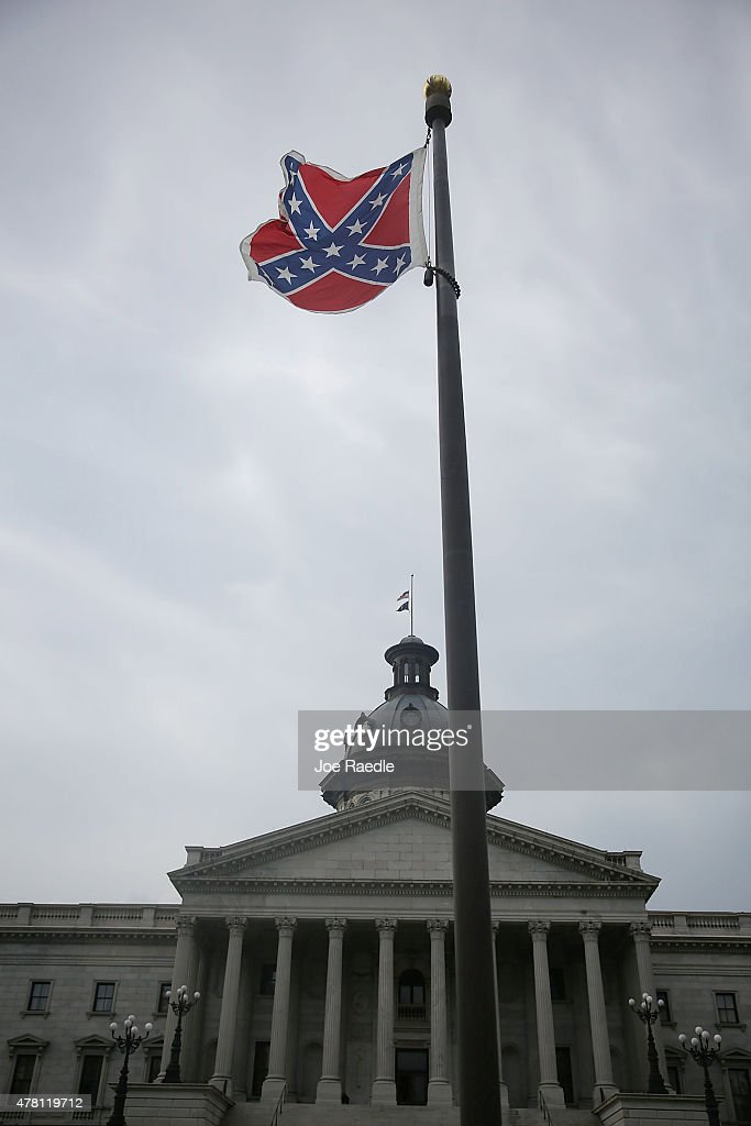Nikki Haley And Lindsey Graham Hold Press Conf. On Confederate Flag At SC State Capital : News Photo