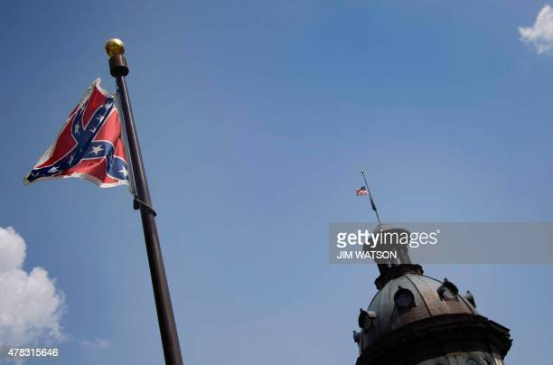 The Confederate Flag flies on the South Carolina State House grounds in Columbia South Carolina June 24 2015 The Confederate battle flag was taken...