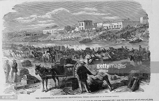The Confederates Evacuating Brownsville, Texas