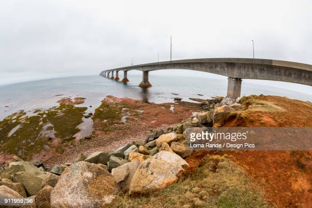 The Confederation Bridge In Prince Edward Island Leading To New Brunswick