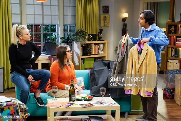 'The Confidence Erosion' Pictured Penny Amy Farrah Fowler and Rajesh Koothrappali Sheldon and Amy try to eliminate stress from wedding planning by...