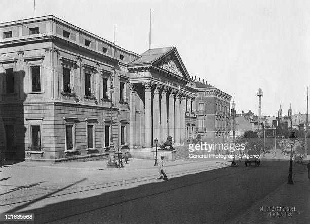 The Congreso de los Diputados or Congress of Deputies on Carrera San Jeronimo in Madrid circa 1910 It is the lower house of the Cortes Generales or...