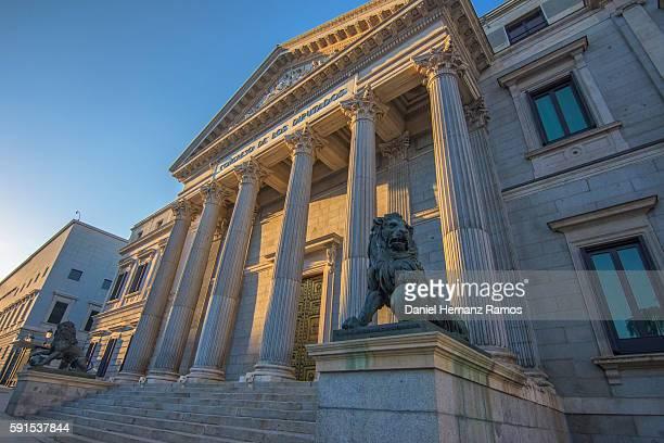 the congress of deputies madrid city, spain, europe - congress of deputies stock pictures, royalty-free photos & images
