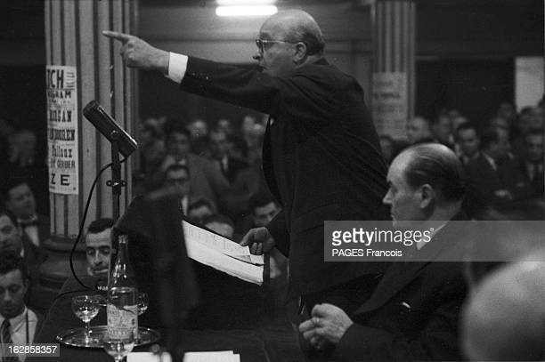 The Congress Of The Republican Radical Party And Radical Socialist On May 4Th 1955 In Paris A Paris salle Wagram lors du congrès extraordinaire du...