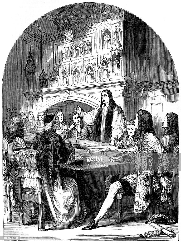 The Congress of Utrecht, Utrecht, Netherlands, 18th century (19th century). From Cassell's Illustrated History of England, Volume IV, published by Cassell, Petter, Galpin and Co (London, Paris and New York, 19th century).