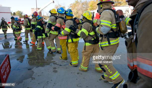 The Congressional Fire Training program held by the Congressional Fire Services Unit 60 to 70 hill staffers are shuttled to College Park put in full...