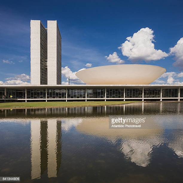 the congresso nacional do brasil (national congress of brazil) - brasilia bildbanksfoton och bilder