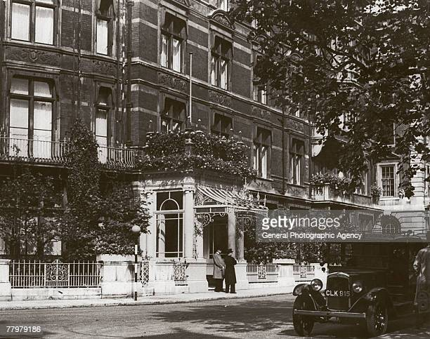 The Connaught Hotel on Mount Street and Carlos Place in London's Mayfair circa 1935