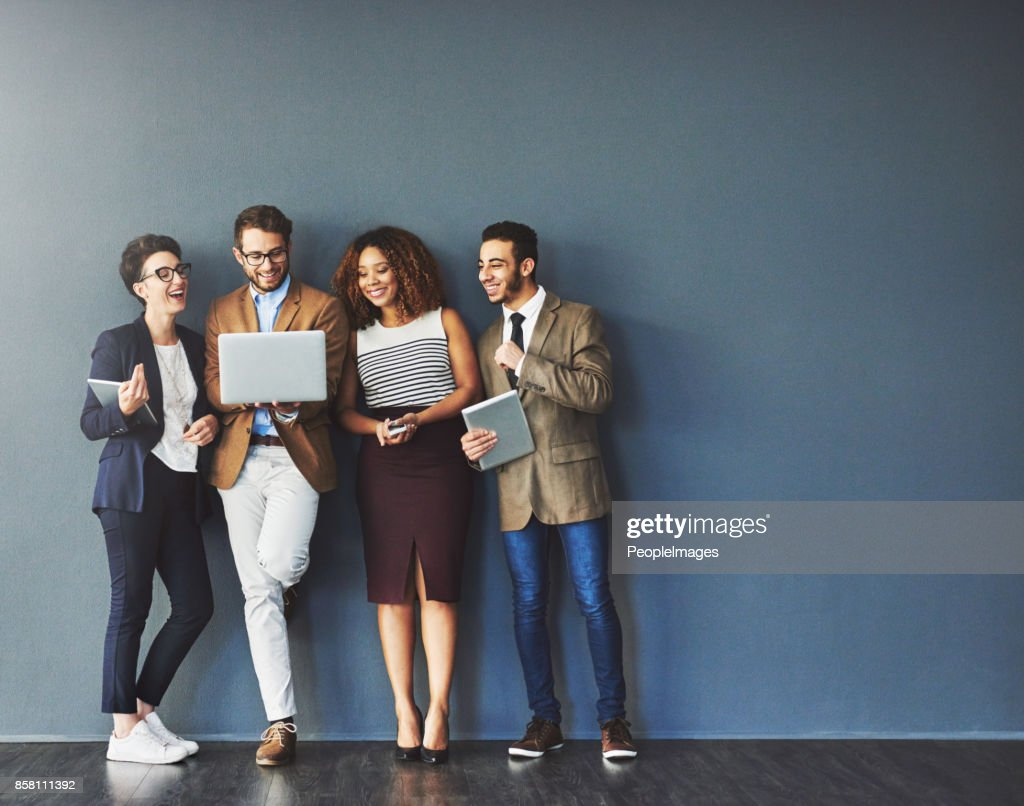 The connected team is an efficient team : Stock Photo