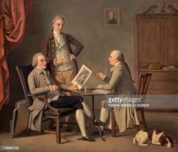 John Caw , John Bonar and James Bruce, by David Allan, 1783. Oil on canvas. .