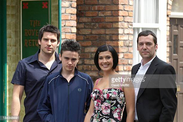 The Connor family the new family on Coronation Street make first appearance on screen August 13 2006 Sean Gallagher Ben Thompson and Rob JamesCollier