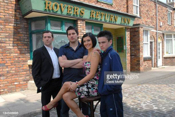 The Connor family the new family on 'Coronation Street' make first appearance on screen August 13 2006 Sean Gallagher Kym Ryder Ben Thompson and Rob...